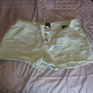 Three button low rise shorts
